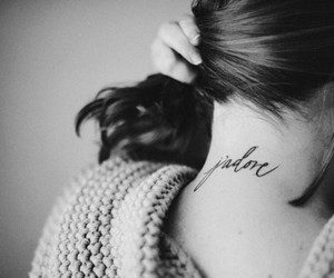 black and white, typography, and j'adore image