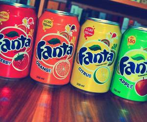 fanta, drink, and apple image