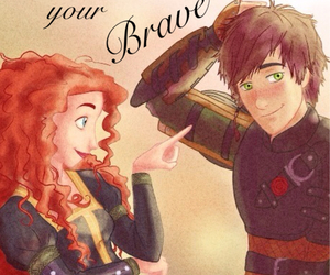 brave, merida, and how to train your dragon image