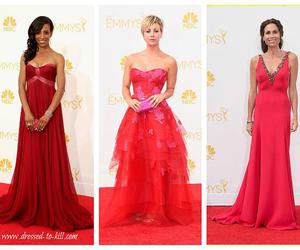 dress, gowns, and emmy awards image