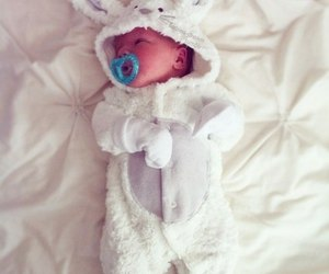 baby and bunny image