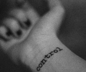 control, tattoo, and black and white image