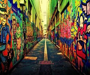 graffiti, street, and art image