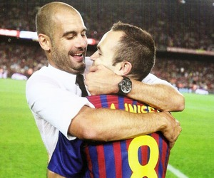 Barcelona, pep guardiola, and iniesta image