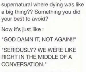funny, supernatural, and true image