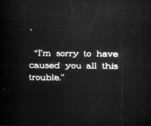 quotes, sorry, and trouble image