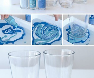 diy, blue, and glass image