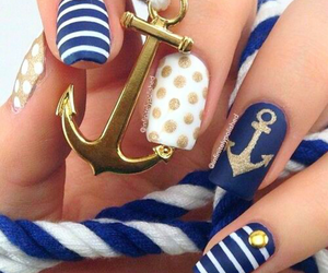 anchor, cute, and blue image
