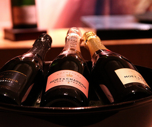 bottle, champagne, and drink image
