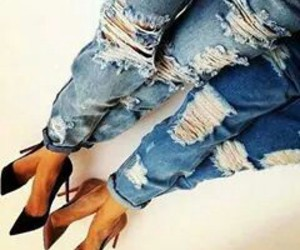 chic, jeans, and style image