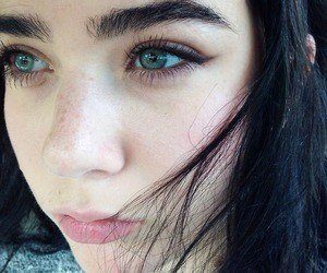 girl, eyes, and pale image