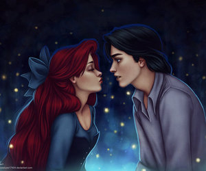 ariel, love, and disney image