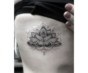 art, ink, and lotus image