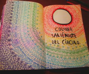 color, doodles, and neon image