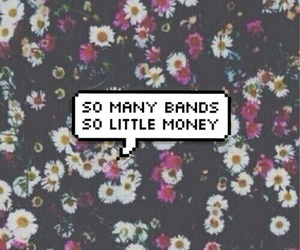 band, flowers, and money image