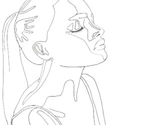 art, black and white, and outline image