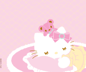 hello kitty, kitty, and pink image