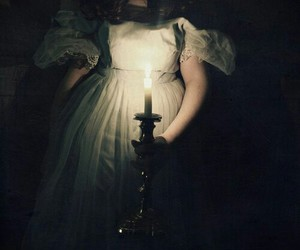 antique, candle, and dark image