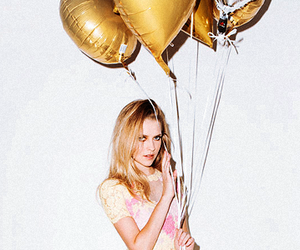 balloons, beautiful, and blonde image