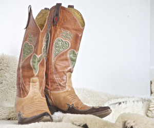 boots, cowboy, and Cowgirl image