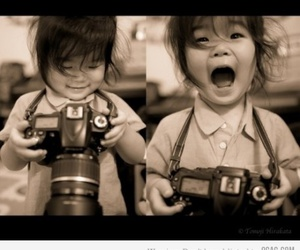 cute, camera, and child image