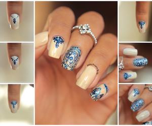 ilusion, nail art, and nail polish image