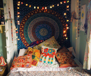 bedroom, grunge, and elephant image