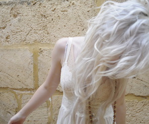 girl, hair, and white hair image