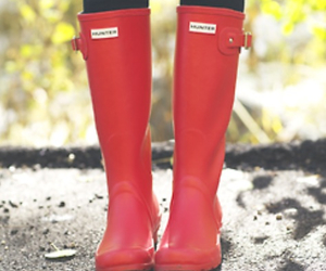 boots, hunter, and red image