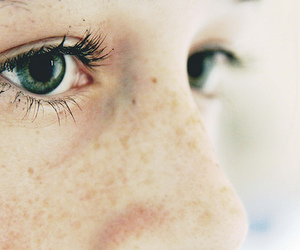eyes, freckles, and green eyes image