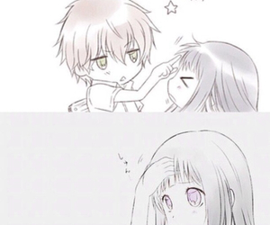 anime, funny, and couple image