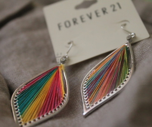 forever 21, earrings, and colorful image