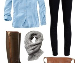 blue, fall, and fashion image