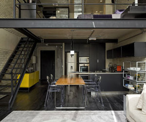 architecture, home, and loft image