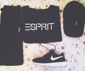 hat, nike, and sprit image