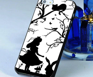 alice in wonderland, case, and cover image