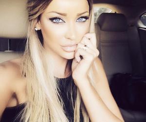 hair, blonde, and eyes image