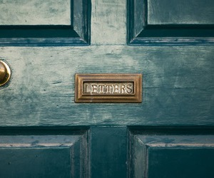 letters, door, and vintage image