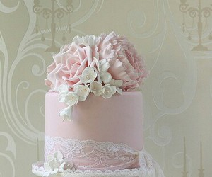 cakes, flowers, and pink image