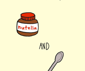 nutella, love, and spoon image