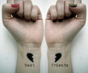 tattoo, best friends, and friends image