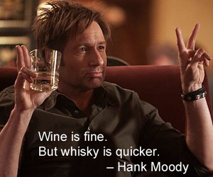whiskey, californication, and hank moody image
