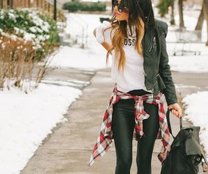 bag, fashion, and pant image