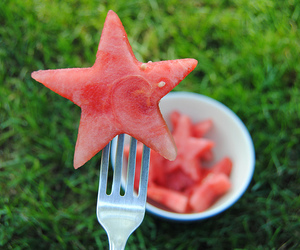 watermelon, stars, and food image