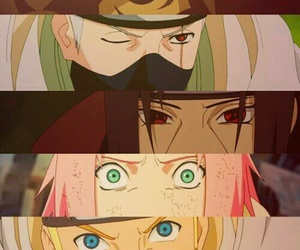 naruto, sasuke, and eyes image