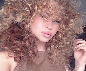 girl, model, and curly image