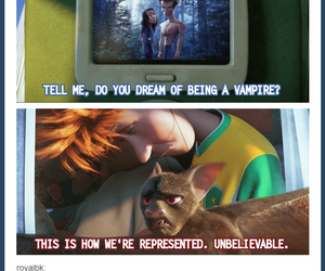 funny, tumblr, and vampire image