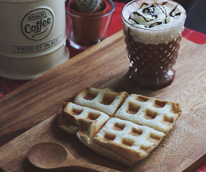 bread, chocolate, and coffee image