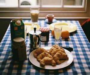 breakfast, food, and vintage image