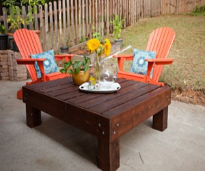 pallet table, pallets table, and pallets patio table image